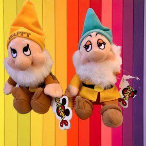 "DISNEY EXCLUSIVE Snow White Seven Dwarfs Plush 8"""